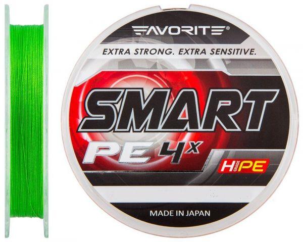 Шнур Favorite Smart PE 4x #0.3/0.09мм 2.3кг салатный 150m.