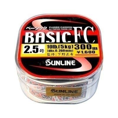 Fluorocarbon Sunline Basic 10lb 0.26 300м