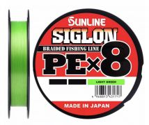 09 Шнур Sunline Siglon PE x8 10lb салатный 150m.