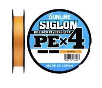 08 Шнур Sunline Siglon PE x4 8lb оранжевый 150m.