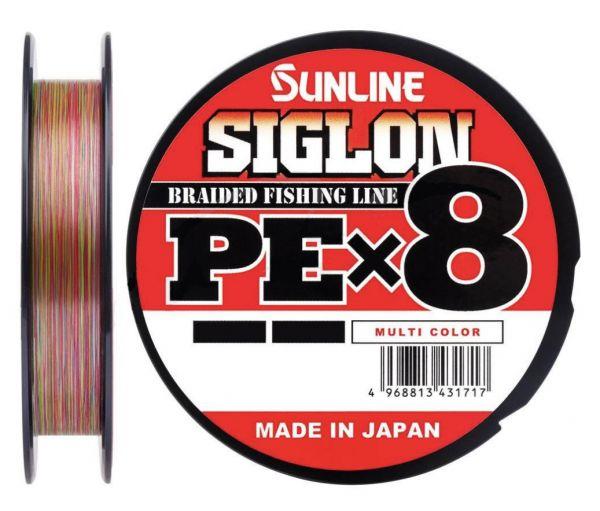01 Шнур Sunline Siglon PE x8 5lb мультиколор 150m.