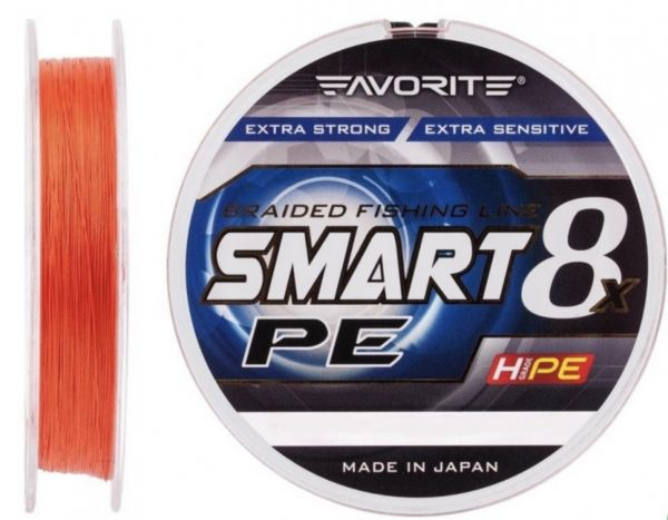 Шнур Favorite Smart PE 8x 150m #0.5 Red orange