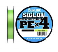 09 Шнур Sunline Siglon PE x4 10lb салатный 150m.