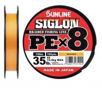 10 Шнур Sunline Siglon PE x8 10lb оранжевый 150m.