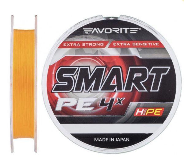 Шнур Favorite Smart PE 4x #0.5/0.117мм 3.6кг оранж. 150m.
