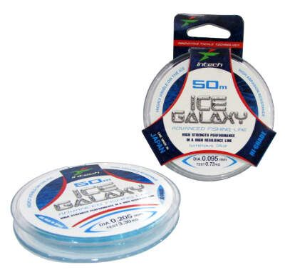 Леска Intech Galaxy Ice Line blue 50м 0.095мм