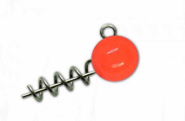 Груз-штопор Instinkt крашеный (красный флуор) 8g (3шт.)